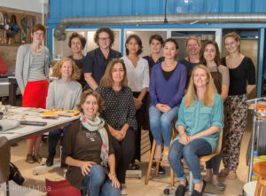 paper conservators, teachers and participants to the inpainting course