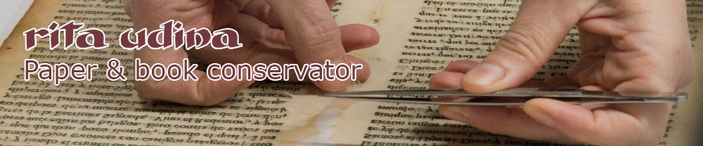 """Workshop """"Introduction to book and paper conservation"""""""