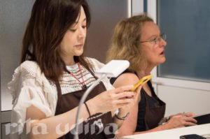 Vivian Yip and Kari Greve at the paper conservation workshop