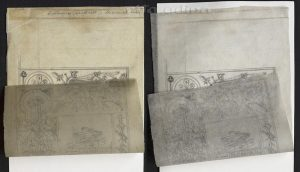 Conservation of impregnated tracing paper with ball-point pen inscription