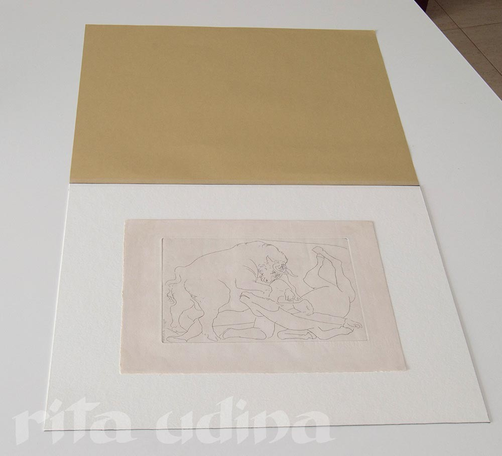 Conservation housing for Picasso print, storage and exhibition