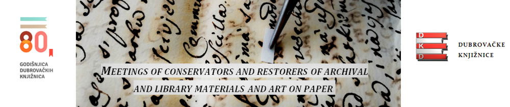 meetings of conservators and restorers of archival and library materials and art on paper