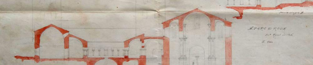 Conservation of sketches on pencil and watercolour