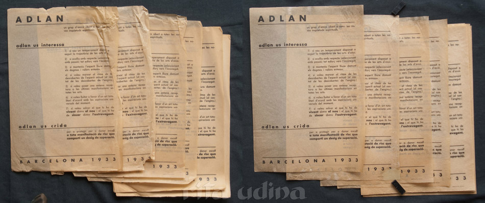 ADLAN tracing paper restoration