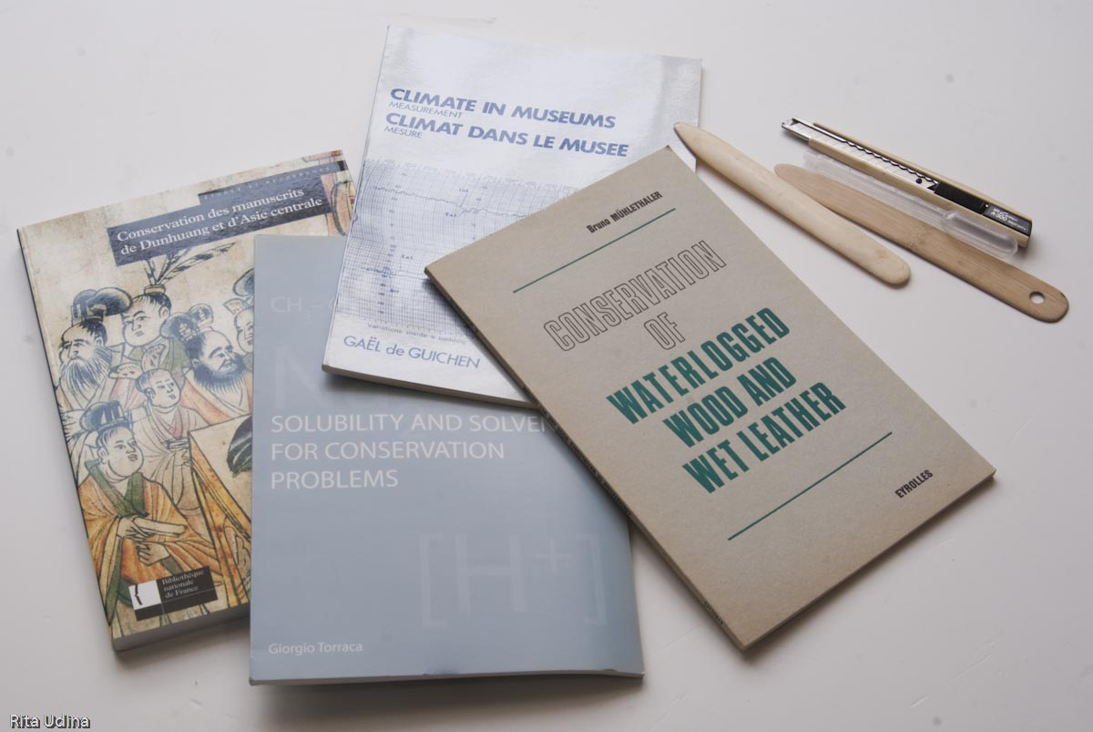 Conservation and restoration books bought at ICCROM