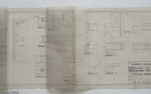 Tracing paper plan after restoration
