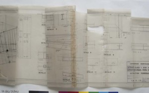 Tracing paper plan, before treatment
