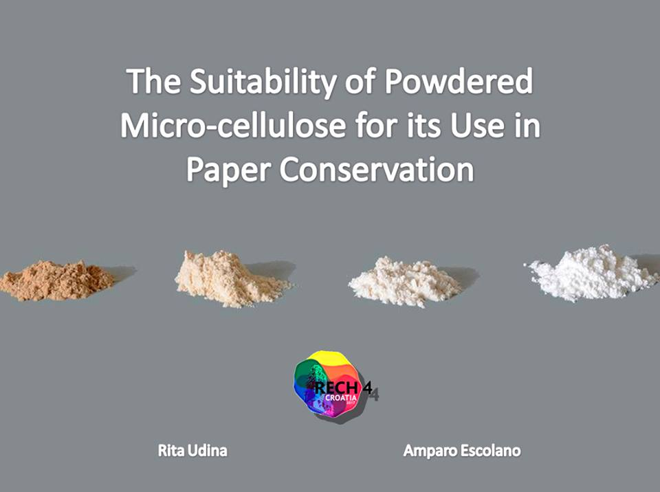 Suitability of Powdered microCellulose for its Use in Paper Conservation